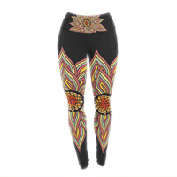 "Pom Graphic Design ""Incandescent Flower"" Yoga Leggings"