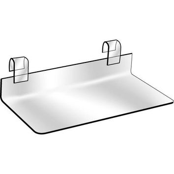 "AF-036 4"" x 8"" Clear Lucite Gridwall Shoe Shelf"