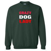 Crazy Dog Lady tshirt - Heavy Blend™ Crewneck Sweatshirt