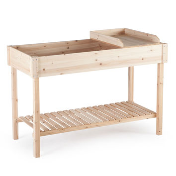 Potting Bench Garden Planting Table in Unfinished Cedar Wood