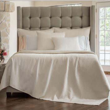 Retro Ivory Coverlets and Pillows by Lili Alessandra
