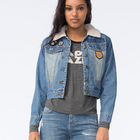 Billabong Patched Love Womens Denim Jacket Denim  In Sizes
