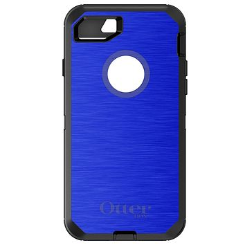 DistinctInk™ OtterBox Defender Series Case for Apple iPhone / Samsung Galaxy / Google Pixel - Blue Stainless Steel Print