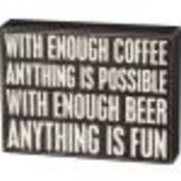 Anything Is Fun Box Sign By Primitives By Kathy
