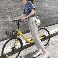"""""""Adidas"""" Women Casual Fashion Letter Print Short Sleeve T-shirt Multicolor Trousers Set Two-Piece Sportswear"""