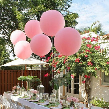 "Huge Giant High Quality Pink Balloons up to 36 "" inch 3 feet 91 cm XL Jumbo wedding babyshower decoration sweet table wedding centrepiece"