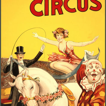 Gentry Bros. Circus - Miss Louise Hilton Circus Poster
