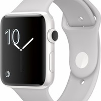 Apple - Apple Watch Edition 42mm White Ceramic Case White Sport Band - White