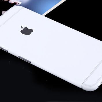 White Pure Decal Wrap Skin Set iPhone 6s 6   iPhone 6s 6 Plus fee8d119f