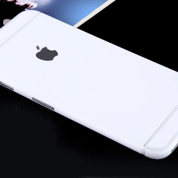 White Pure Decal Wrap Skin Set iPhone 6s 6 / iPhone 6s 6 Plus