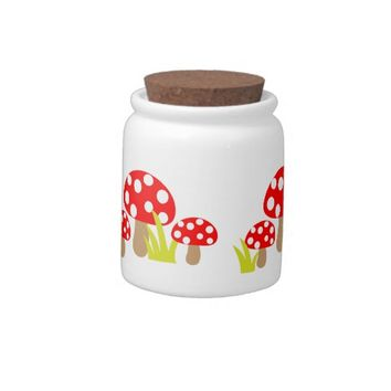 Mushrooms Candy Jars