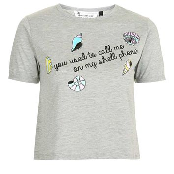 Shell Phone Crop Tee by Tee & Cake | Topshop