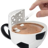 Soccer Mug: A cup you can use to practice for the World Cup.