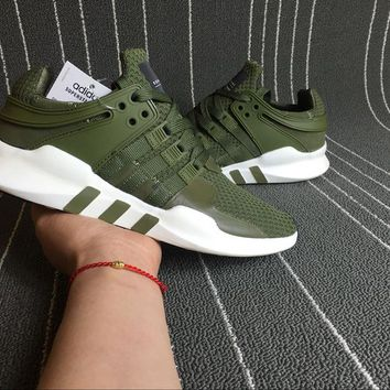 Adidas EQT Equipment Support ADV Primeknit Green Sprot Shoes Running Shoes Men Women Casual Shoes S81491