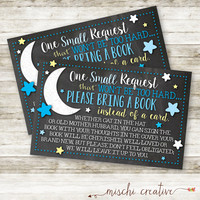 Love You to the Moon and Back Baby Shower DIY Bring a Book Instead of a Card Inserts