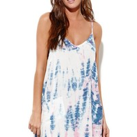 Some Days Lovin Kwando Tie Dye Swing Dress - Womens Dress - Multi -