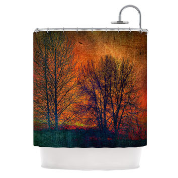 "Sylvia Cook ""Silhouettes"" Shower Curtain"