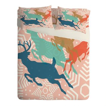 Heather Dutton Dashing Through The Snow Serene Sheet Set Lightweight