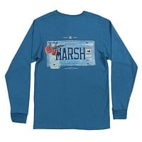 Long Sleeve Georgia Backroads Collection Tee in Slate by Southern Marsh - FINAL SALE