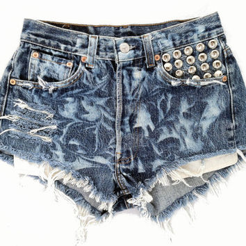 CIrus short studded cut offs by Omeneye on Etsy