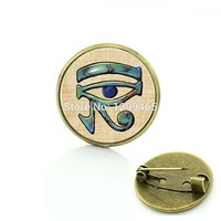 Broche Pin Supernatural Accessories Personality Gift Ancient Eye Of Horus Brooch God Egypt Jewelry Your Finish Choice C 436