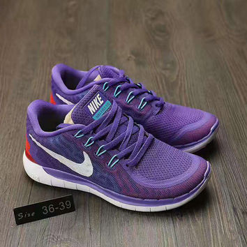 Nike barefoot 5.0 Fashion Running Sport Casual weaving Shoes Sneakers Purple G-AHXF