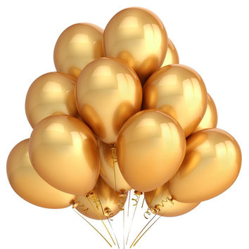 PuTwo Party Balloons 12 Inch 100 Pack Color Gold Latex Balloonsfor Kids Party Supplies Wedding Decoration Baby Shower or Birthday Decoration - Gold