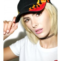 Flames Baseball Hat | Dolls Kill