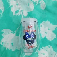 4th Of July Minnie Mouse Tumbler