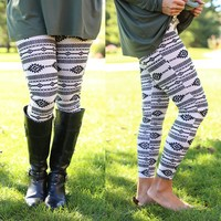 Tribal Time Patterned Leggings