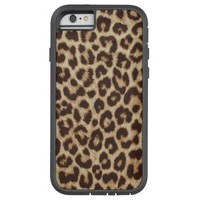 Custom Monogram Leopard Print Fabric iPhone 6 Case