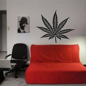 Cannabis Leaf Weed Wall Art Sticker Decal t180