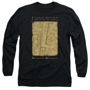 Harry Potter - Marauder's Map Interior Words Long Sleeve Adult 18/1 Officially Licensed Shirt