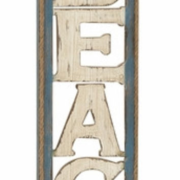 Benzara Lovely Beach Wall Sign decor