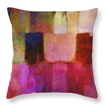 "Abstract Study Two Throw Pillow for Sale by Ann Powell - 14"" x 14"""