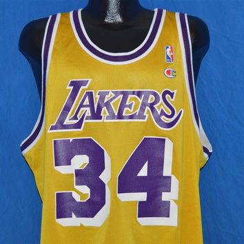 90s Los Angeles Lakers Shaquille O'Neal Jersey t-shirt Extra Large