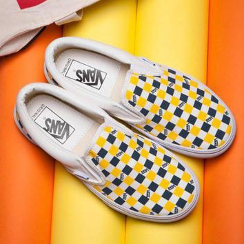 VLXZRBC Trendsetter VANS ERA Slip-On Canvas Old Skool Checkerboard Tartan Sneakers Sport Shoes