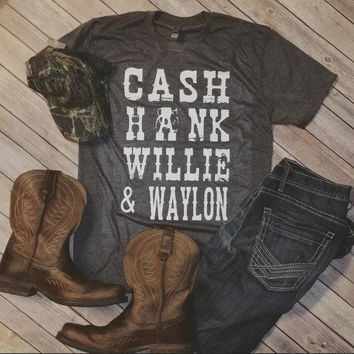 Cash Hank Willie and Waylon Unisex Tri Blend  T-Shirt