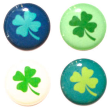 Lucky Clover Shamrock - 8 Piece Home Button Stickers for Apple iPhone, iPad, iPad Mini, iTouch