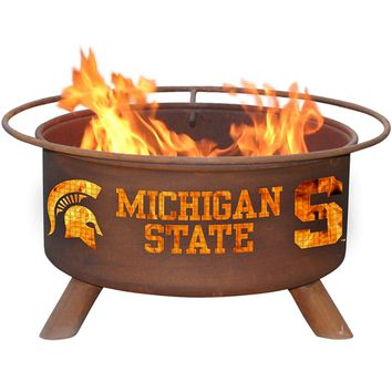 Michigan State Steel Fire Pit by Patina Products