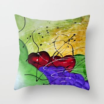 Fruit Salad 1 Still Life Painting by Saribelle Throw Pillow by Saribelle Inspirational Art | Society6