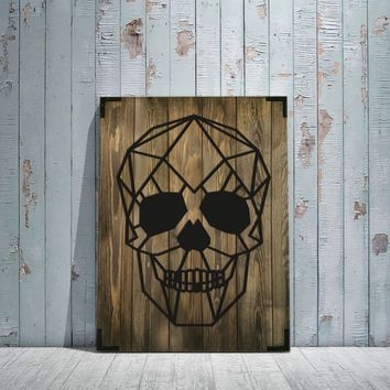 Skull Wooden Wall Art