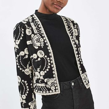 PETITE Lace Embroidered Jacket | Topshop
