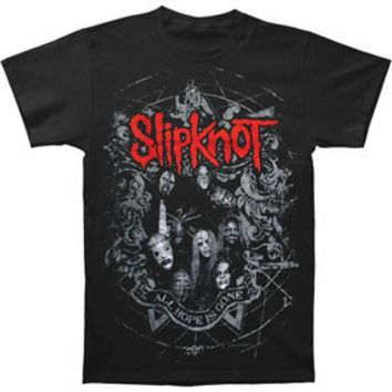 Slipknot Men's  Star Crest T-shirt Black Rockabilia