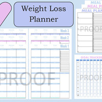 Tone It Up Journal, Weight Loss Planner, Weight Loss Tracker, Food Journal, Daily Planner, Arc Planner, PDF