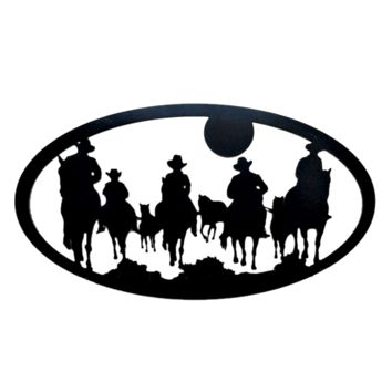 Cowboys Heading Home - Laser Cut Metal Wall Decor Sign