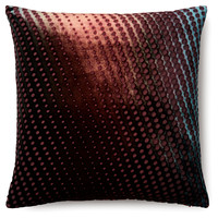 Polka Dot 16x16 Velvet Pillow, Multi, Decorative Pillows