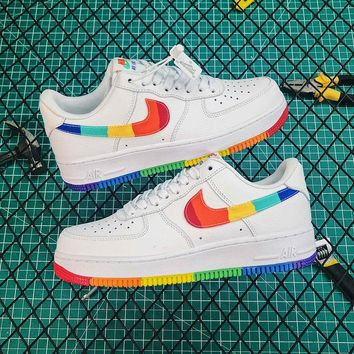 Nike Air Force 1 '07 LV8 White / Rainbow Shoes - Best Online Shoes