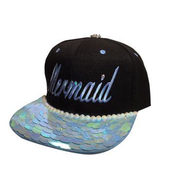 Mermaid Snapback Blue
