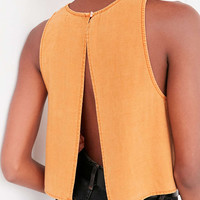 BDG Jimmy Split-Back Shell Tank Top - Urban Outfitters